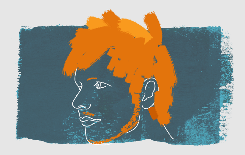 Paint brush style Ed Sheeran portrait illustration