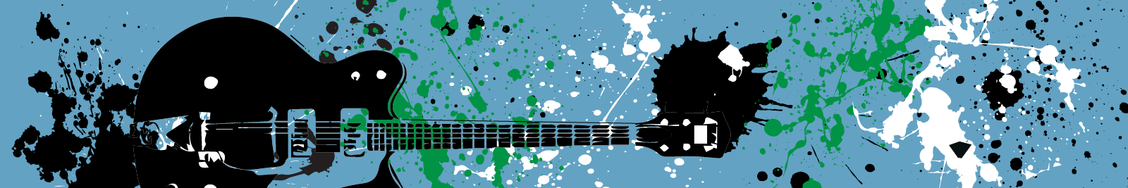 guitar paint splatter graphic stone roses