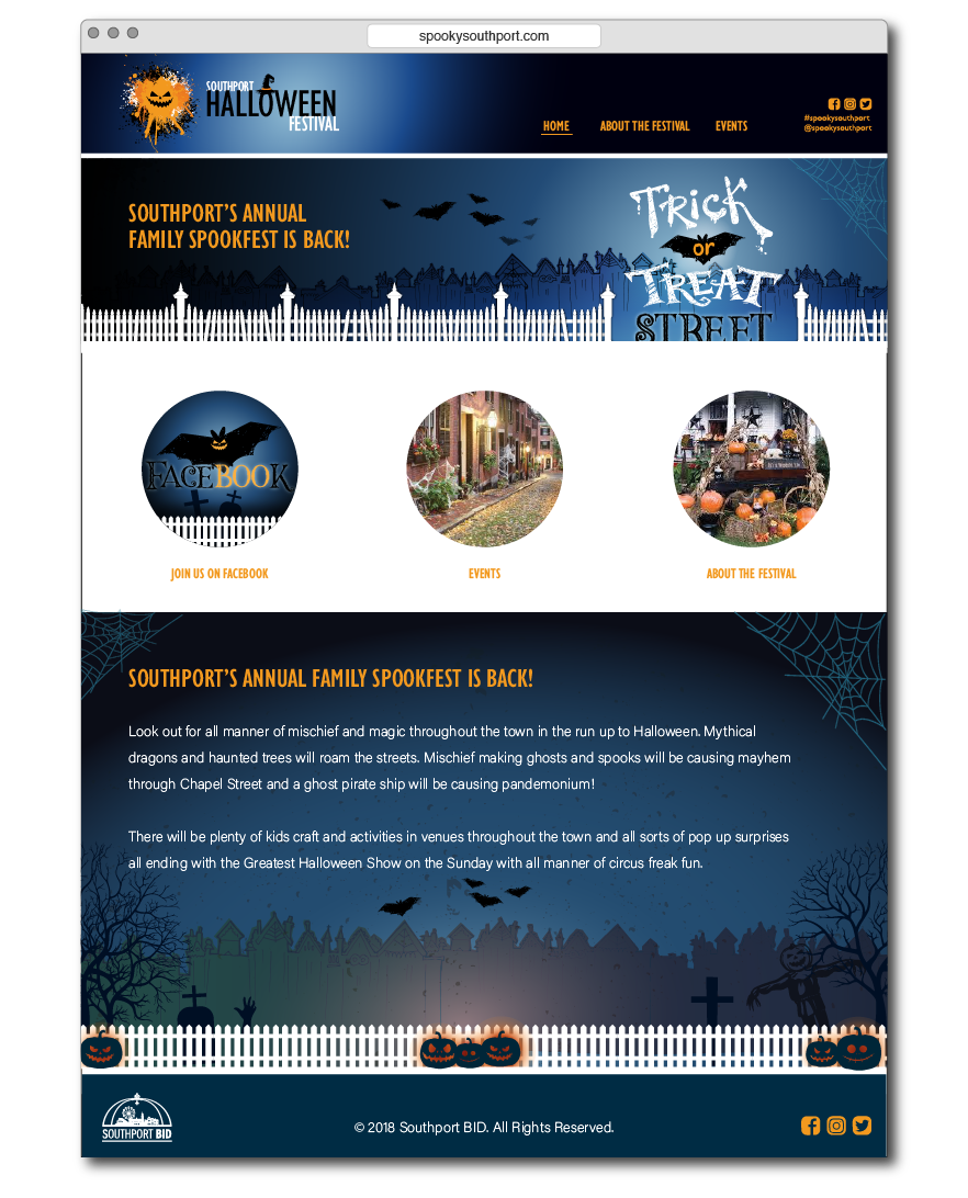 halloween website design southport