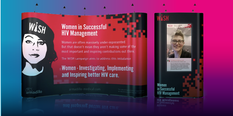 promotional stand HIV